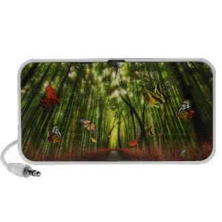 Bamboo & Butterfly Art 2 Doodle iPod Speaker
