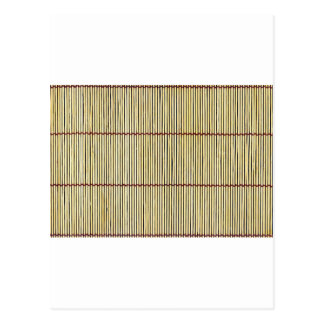 bamboo canes wood Natural Brown Texture Style Fash Postcard