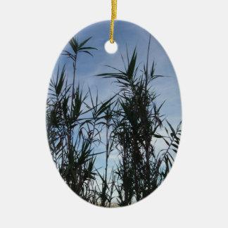 Bamboo. Ceramic Oval Decoration