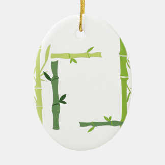 Bamboo Ceramic Oval Decoration