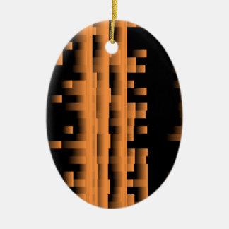 Bamboo Ceramic Oval Decoration