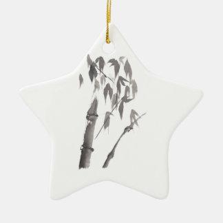 Bamboo Ceramic Star Decoration