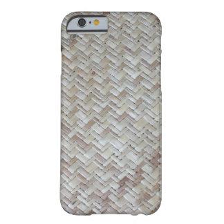 Bamboo chevron zigzag zig zag pattern wood photo barely there iPhone 6 case