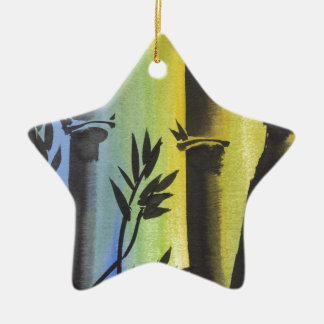 Bamboo Dream Ceramic Star Decoration