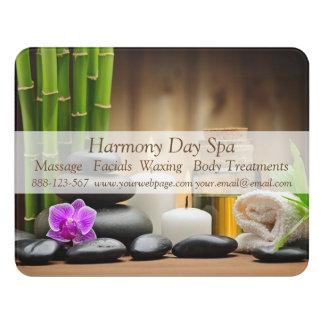Bamboo Flower Oil Zen Spa Massage Door Sign