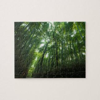 Bamboo Forest in Arashiyama, Sagano, Kyoto, Japan Puzzles