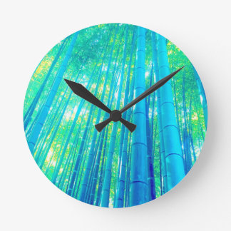 Bamboo Forest Series Round Clock