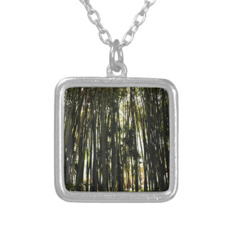 Bamboo Forest Silver Plated Necklace