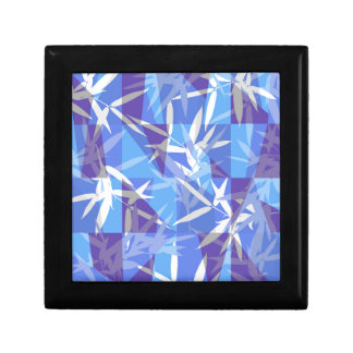 Bamboo in Blue Geometric Pattern Gift Box