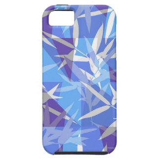 Bamboo in Blue Geometric Pattern iPhone 5 Case