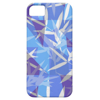 Bamboo in Blue Geometric Pattern iPhone 5 Cover