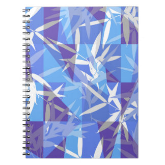Bamboo in Blue Geometric Pattern Notebook