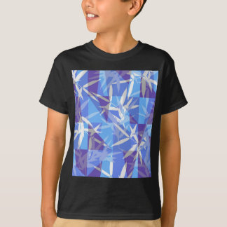 Bamboo in Blue Geometric Pattern T-Shirt