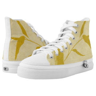 Bamboo ink painting high tops