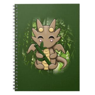 Bamboo Kawaii Dragon Spiral Notebook