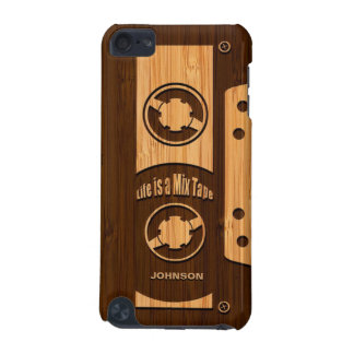 Bamboo Look & Engraved Life is a Mix Tape iPod Touch (5th Generation) Covers