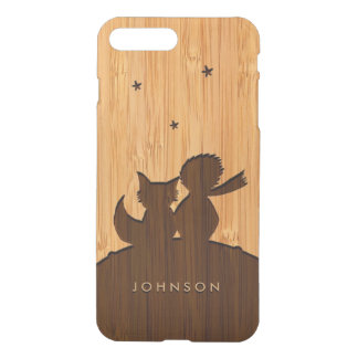 Bamboo Look & Engraved Little Prince with Fox iPhone 8 Plus/7 Plus Case