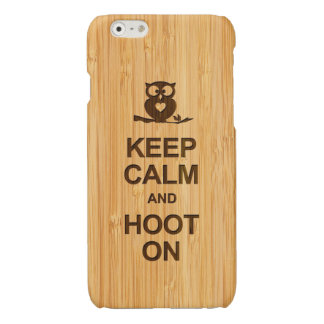 Bamboo Look Keep Calm and Hoot On Owl