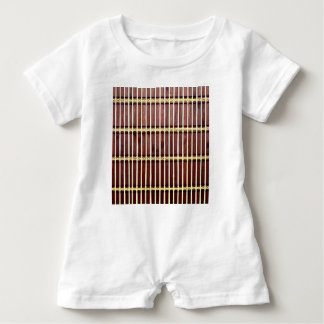 bamboo mat texture baby bodysuit