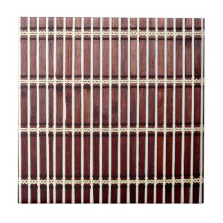 bamboo mat texture ceramic tile