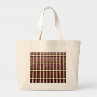 bamboo mat texture large tote bag