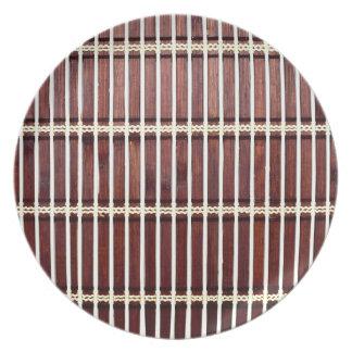 bamboo mat texture plate