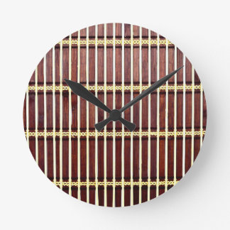 bamboo mat texture round clock