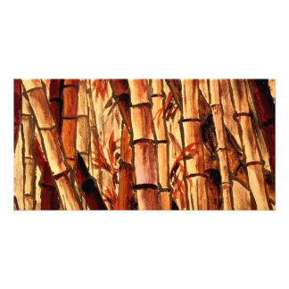 bamboo painting Asian Oriental art Picture Card
