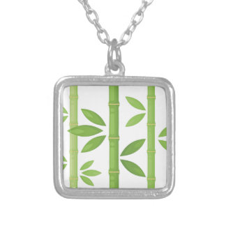 Bamboo Plant Silver Plated Necklace