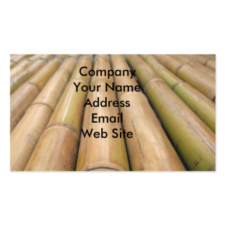Bamboo Poles Pack Of Standard Business Cards