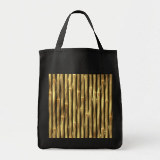 Bamboo Poles Patterned Grocery Tote Bag