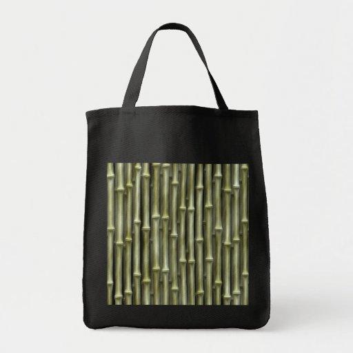 Bamboo Poles Texture Canvas Bag