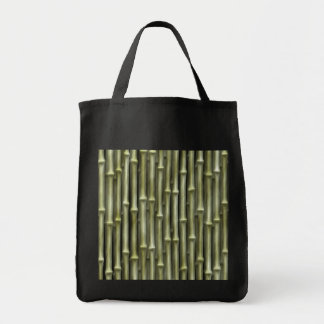 Bamboo Poles Texture Grocery Tote Bag