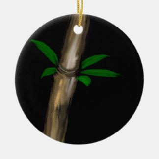 Bamboo Round Ceramic Decoration