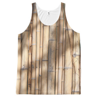 Bamboo Shadows Pattern All-Over Print Singlet