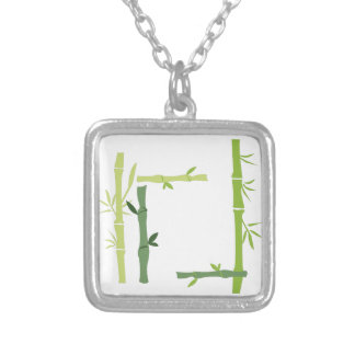 Bamboo Silver Plated Necklace