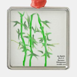 Bamboo square ornament