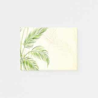 Bamboo stalks and leaves, all over print - 4x3 post-it notes