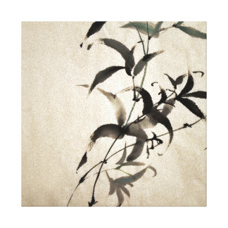 Bamboo Stretched Canvas Print