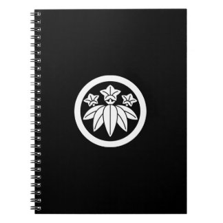 Bamboo-style gentian in circle notebook