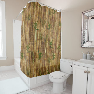 Bamboo Tapa Cloth Shower Curtain