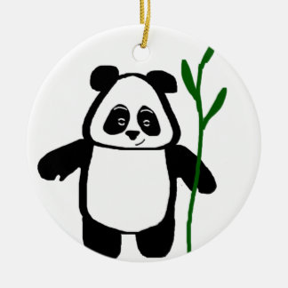 Bamboo the Panda Round Ornament