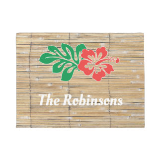 Bamboo tiki tropical beach doormat