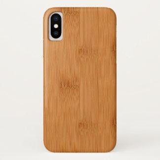 Bamboo Toast Wood Grain Look iPhone X Case