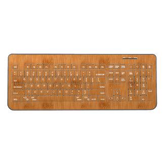 Bamboo Toast Wood Grain Look Wireless Keyboard