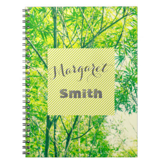 Bamboo tree notebook with your name