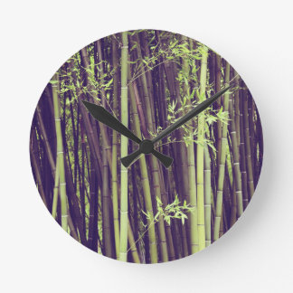 Bamboo trees round clock