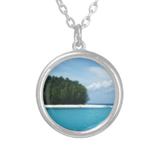 bambooislands silver plated necklace