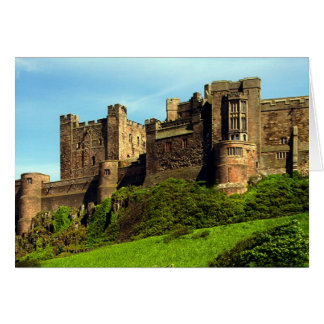Bamburgh Castle, Northumberland, England. Card