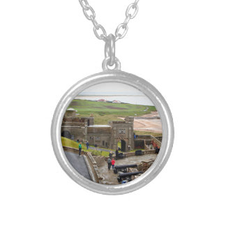 Bamburgh Castle, Northumberland, England Silver Plated Necklace